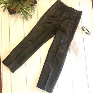 Black Leather Pants Size 8